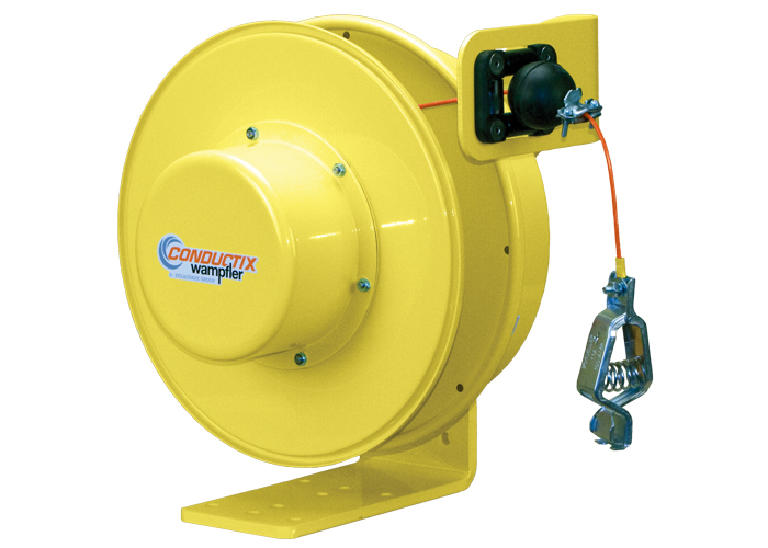 Grounding Reel For Static Discharge, 75 ft of of 3/32